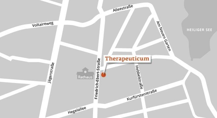 Lageplan Therapeuticum Potsdam